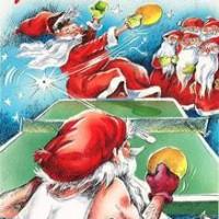 Weihnachtsmann Tischtennis